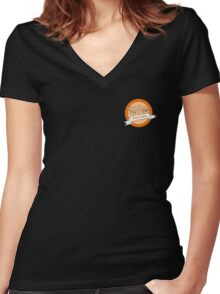 Hopeless Cynics Linked Pinkies Badge Women's Fitted V-Neck T-Shirt