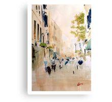 Main street, Gibraltar Canvas Print
