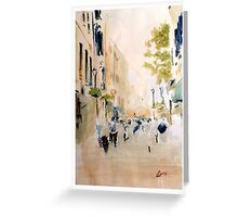 Main street, Gibraltar Greeting Card