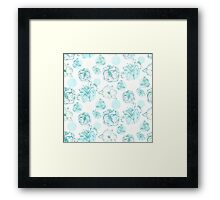 Flora Pop- Green  Framed Print