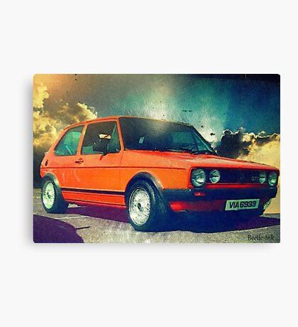 Sunset MK1 Golf Canvas Print