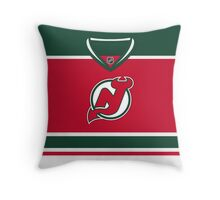 New Jersey Devils Throwback Jersey Throw Pillow