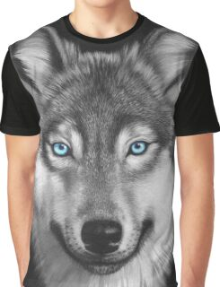 Wolf with blue eyes Graphic T-Shirt