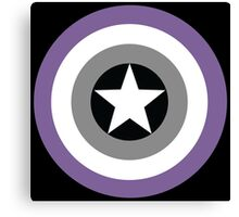 Asexual Flag Cap Shield Canvas Print