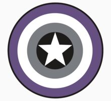 Asexual Flag Cap Shield by spiltsparks