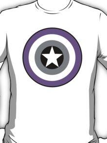 Asexual Flag Cap Shield T-Shirt