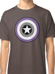 Asexual Flag Cap Shield Classic T-Shirt