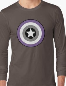 Asexual Flag Cap Shield Long Sleeve T-Shirt