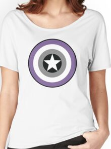 Asexual Flag Cap Shield Women's Relaxed Fit T-Shirt