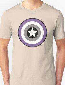 Asexual Flag Cap Shield Unisex T-Shirt