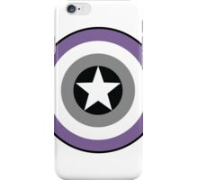 Asexual Flag Cap Shield iPhone Case/Skin