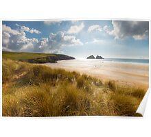 Cornwall - Holywell Sunshine Poster