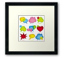 Speak bubbles Framed Print