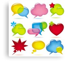 Speak bubbles Canvas Print