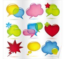 Speak bubbles Poster