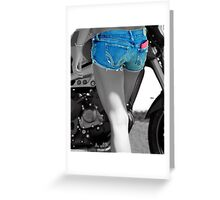 Bikers Blue  Greeting Card
