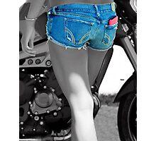 Bikers Blue  Photographic Print