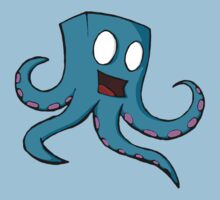 Happy Cube Headed Octopus by GrimDork