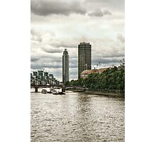 Along the North Bank of the Thames Photographic Print