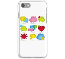 Speak bubbles iPhone Case/Skin