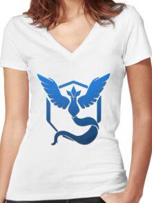 Team Mystic Logo Women's Fitted V-Neck T-Shirt