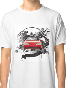Background with a car Classic T-Shirt