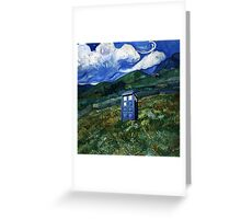 tardis in Rural Greeting Card