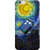 tardis the starry night iPhone Case/Skin