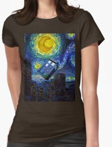 tardis the starry night Womens Fitted T-Shirt