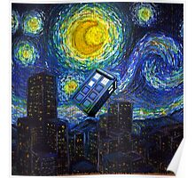 tardis the starry night Poster