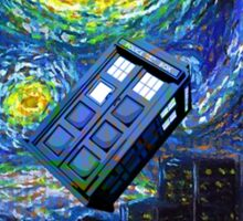tardis the starry night Sticker