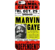 Marvin Gaye Show Poster optimized for white shirts iPhone Case/Skin