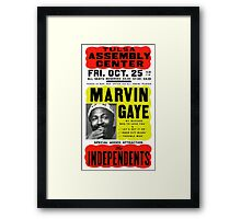 Marvin Gaye Show Poster optimized for white shirts Framed Print