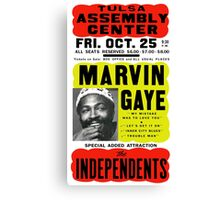 Marvin Gaye Show Poster optimized for white shirts Canvas Print