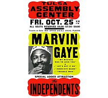 Marvin Gaye Show Poster optimized for white shirts Photographic Print