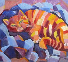 Cat nap by Saga Sabin