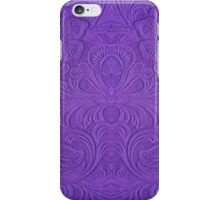 Purple Tones Suade Leather Embossed Floral Pattern iPhone Case/Skin