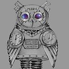 Futuristic Mechanical owl by Redilion