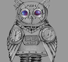 Futuristic Mechanical owl by Redilion