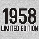 1958 LIMITED EDITION by mcdba