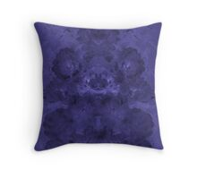 Blue Mirrored Floral Pattern Throw Pillow