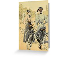 Bicycling Greeting Card
