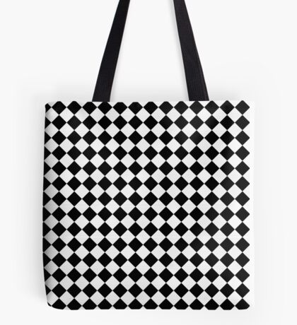 Black and White Checkerboard Tote Bag