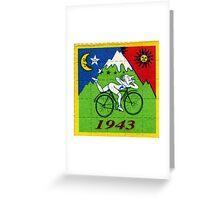 albert hoffman bike 1943 Acid lsd tabs Greeting Card