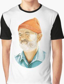 Steve Zissou (Bill Murray) T-Shirt Graphic T-Shirt