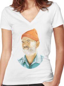 Steve Zissou (Bill Murray) T-Shirt Women's Fitted V-Neck T-Shirt
