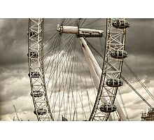 A Closer View of the London Eye Photographic Print