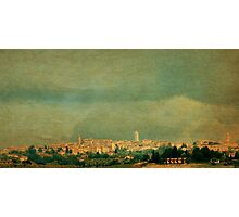 Storm Brewing Over Siena-Tuscany Photographic Print