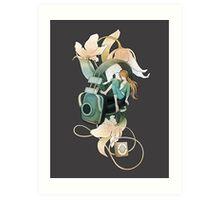 Thumbelina - grey Art Print