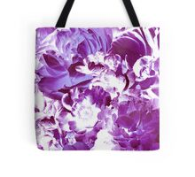 Purple Abstract Floral Pattern Tote Bag